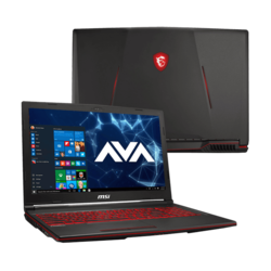 "Gaming Laptop - MSI GL63 9SEK-615, 15.6"" FHD 144Hz 3ms, Core™ i7-9750H, NVIDIA® GeForce RTX™ 2060 6GB Graphics Gaming Laptop"