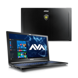 "Workstation Laptop - MSI WS63VR 7RL-024US 15.6"" Core™ i7-7700HQ, NVIDIA® Quadro P4000 Graphics Custom Workstation Laptop"