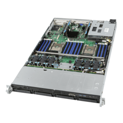 1U Rack Server - Intel R1304WF0YS Intel® Xeon® Scalable, SAS/SATA 1U Server System