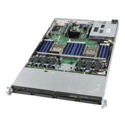 1U Rack Server - Intel R1304WFTYS Intel® Xeon® Scalable, SAS/SATA 1U Server System