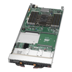 Supermicro Server - Supermicro Single-Socket Blade SBI-6419P-C3N, Intel® Xeon® Scalable, SAS/SATA/NVMe, Blade Module