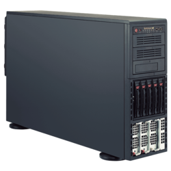 Tower Server - Supermicro SuperServer 8048B-C0R3FT Quad Xeon® E7-8800 v4/v3, E7-4800 v4/v3 SAS/SATA 4U Rackmount / Tower Server Computer