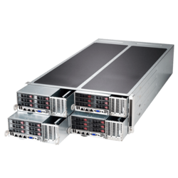 4U Rack Server - Supermicro SuperServer F628G2-FTPT+ FatTwin Eight Xeon® E5-2600 v4 SATA 4-Node 4U Rackmount Server Computer