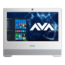 All-in-One Desktops - XPC X50V6U3 White, 15.6 inch HD with touchscreen, Fanless and silent, All-In-One PC