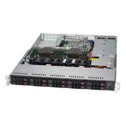 1U Rack Server - Supermicro SuperServer 1029P-WTRT Dual Intel® Xeon® Scalable SAS/SATA/NVMe 1U Rackmount Server Computer