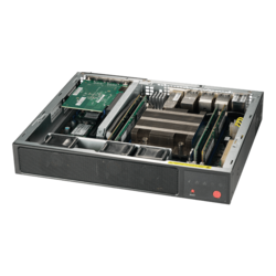 1U Rack Server - Supermicro SuperServer E300-9D, Intel® Xeon® D-2123IT, SATA/NVMe, Compact Server Computer