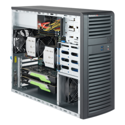 Workstation PC - Supermicro® SuperWorkstation 7039A-i Dual Xeon® Scalable 3U Rack/Tower Workstation PC
