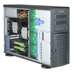 Workstation PC - Supermicro® SuperWorkstation 7049A-T Dual Xeon® Scalable 4U Rack/Tower Workstation PC