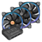 Riing 12 LED RGB 3 x 120mm, w/ Controller, 1500 RPM, 40.6 CFM, 26.4 dBA, Cooling Fans