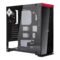 805 Red, Tempered Glass, No PSU, ATX, Black/Red, Mid Tower Case