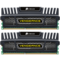 8GB Kit (2 x 4GB) Vengeance DDR3 1600MHz, PC3-12800, CL9 (9-9-9-24) 1.5V, Non-ECC, Black, DIMM Memory