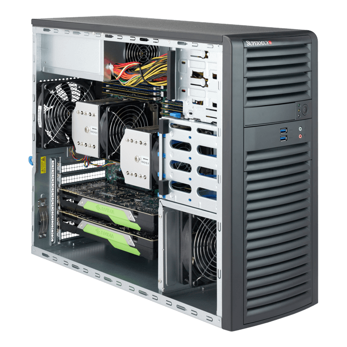 Supermicro® SuperWorkstation 7039A-i Dual Xeon® Scalable 3U Rack/Tower  Workstation PC