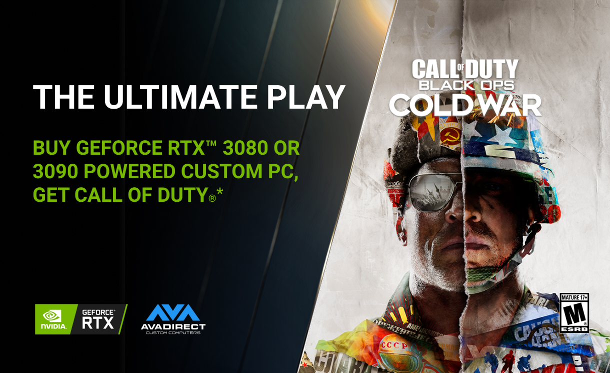 Buy GeForce RTX™ 3080 or 3090 Powered Custom PC, Get Call of Duty: Black Ops Cold War